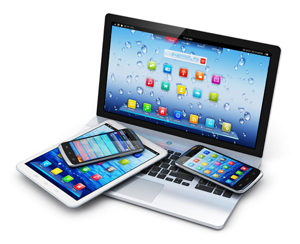 Web devices: tablets, phones, Laptops