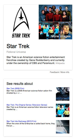 Knowledge Graph for Star Trek